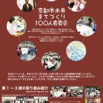 京都市未来まちづくり 100 人委員会 (1 期〜 3期) チラシ